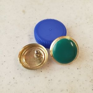 Vintage gold and green earrings